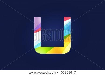 U letter vector. U logo icon template. U symbol silhouette. U isolated icon, U line style letter, U logotype, U logotype, U modern symbol, U company name brand.