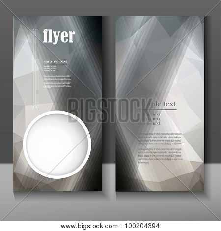 Flyer With An Abstract Geometric Pattern