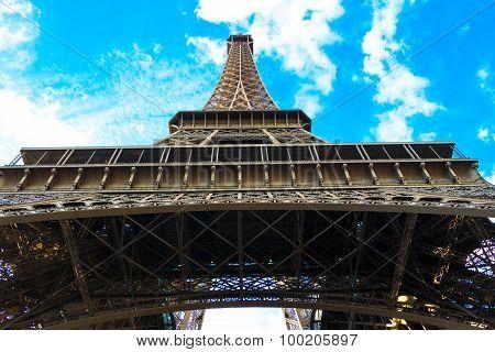 The Eiffel tower.Paris, France.