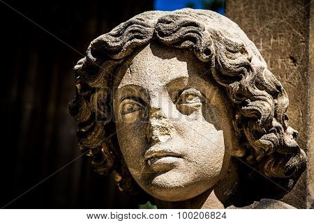 Enlightened Bust Of Angel-valtice,czech Rep.