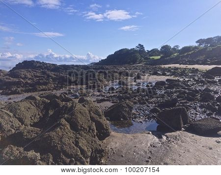 Large rocks on the beach at Cultra Holywood County Down