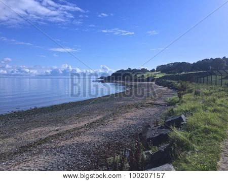 A stoney beach in Cultra Holywood County Down