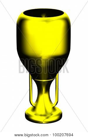 Gold Trophy Isolated On White Background