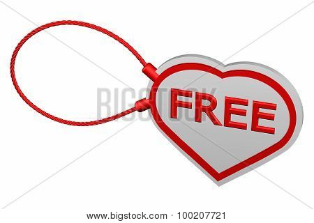 Heart Tag With Word Free