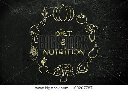 Diet & Nutrition: Vegetables Illustration
