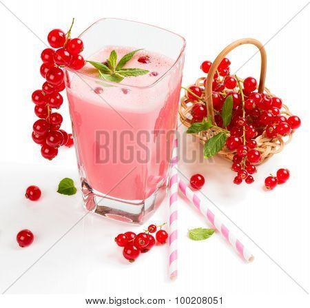 Glass Of Red Currant  Milkshake