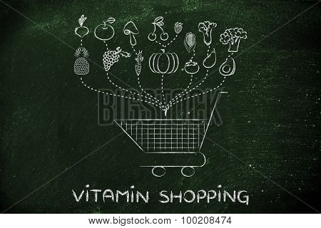 Vitamin Shopping, Buying Fruit And Vegetables