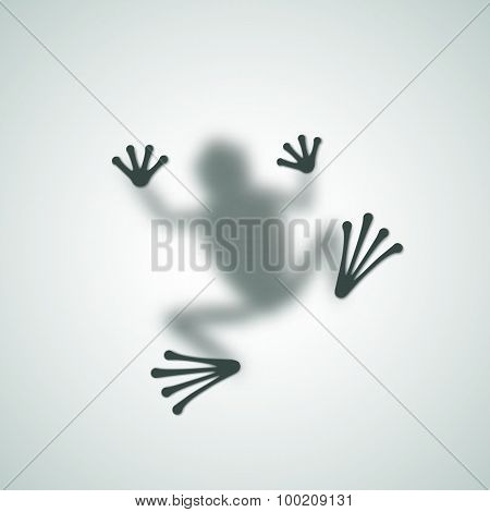 Diffuse Frog Silhouette Shadow Abstract Vector Image.