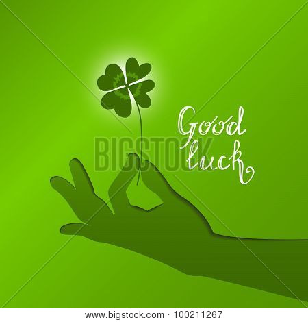 good luck vector card