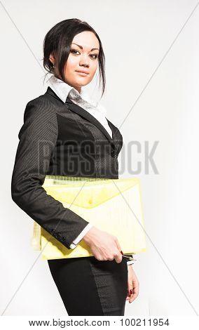 Nice woman in black suit