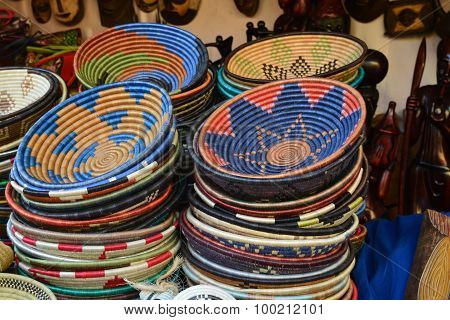 Old African household vessels - colorful