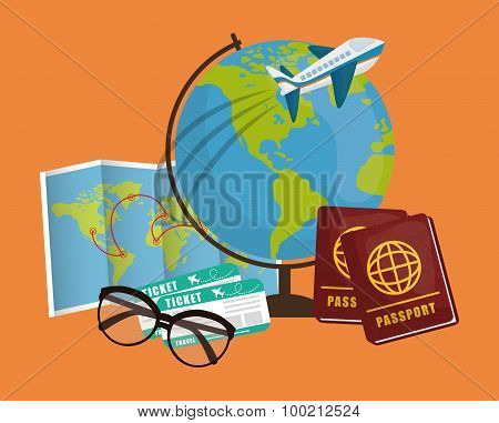 Travel vacation design.
