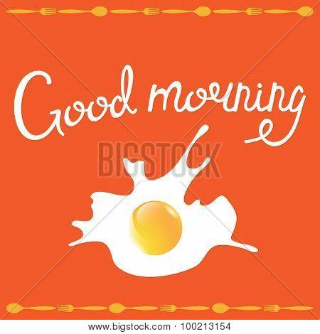 Breakfast omelette vector illustration
