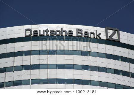 Office Of The Deutsche Bank In Amsterdam