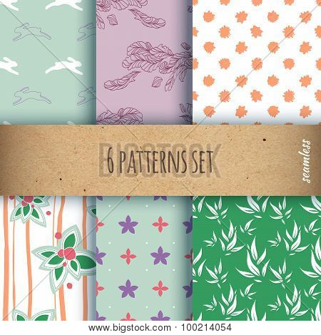 set of the seamless patterns