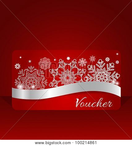 End of year sale price tag, sale coupon, voucher. Christmas template Design vector illustration.