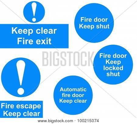 Fire door signs collage