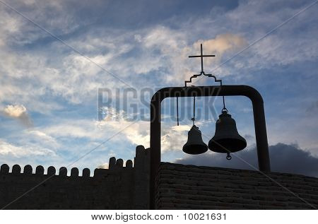 Bells In Narikala Fortress. Tbilisi, Georgia.