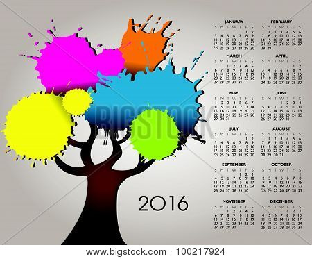 A 2016 Nature and Tree Calendar