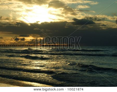 Winter Sunset On The Baltic Sea