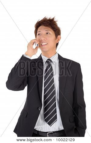 Young Entrepreneur Talking On Phone
