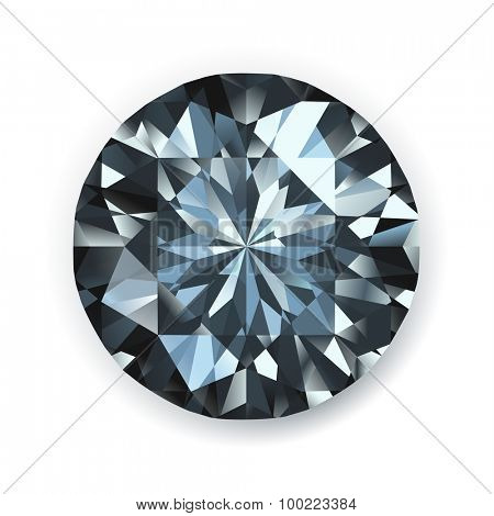 Black diamond realistic illustration