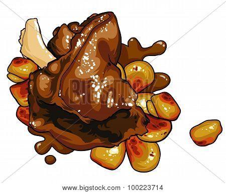 Gourmet Food Meat Dish