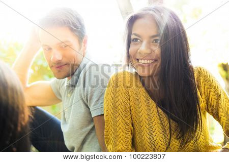 Portrait of a happy couple outdoors
