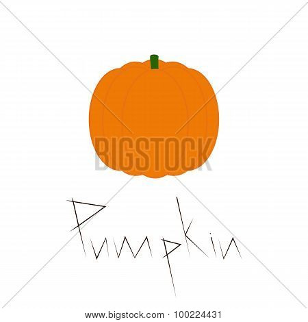 Pumpkin With Lettering