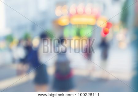 Blurred Big City Intersection