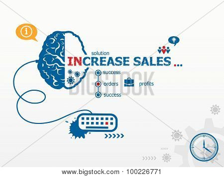 Increase Sales Design Illustration Concepts For Business