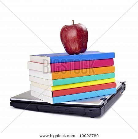 Laptop Computer Books Apple Fruit Food Education School