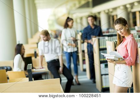 Young Woman In The Library