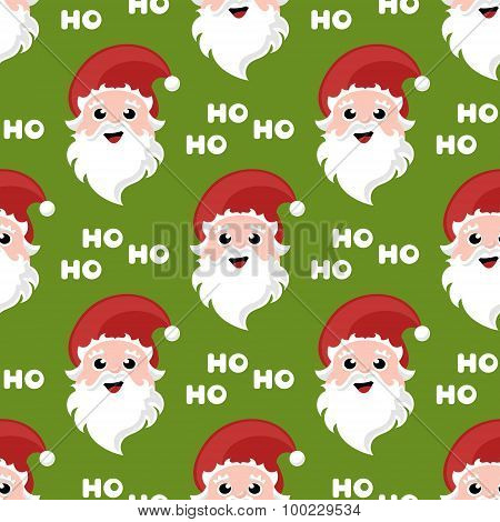 christmas pattern with cartoon santa claus