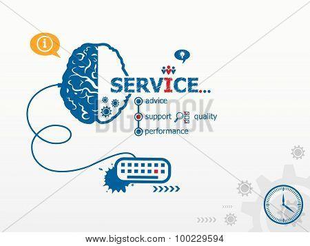 Service Design Illustration Concepts For Business