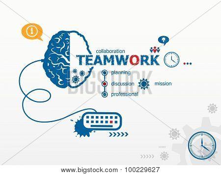 Teamwork Design Illustration Concepts For Business