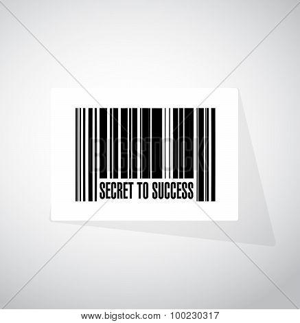 Secret To Success Barcode Sign Concept