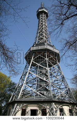 Petrin Lookout Tower  In Prague, Czech Republic