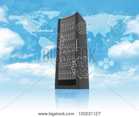 Metal locker in sky
