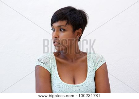 Attractive African American Woman With Short Hairstyle