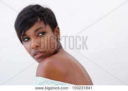 Close Up Elegant African American Woman