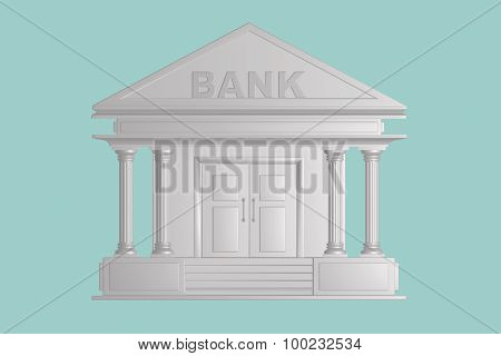 Flat Conceptual Illustration Of Bank Building