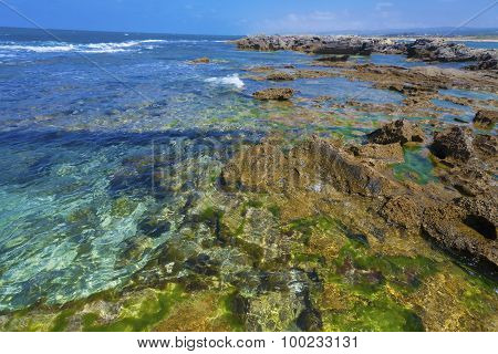 Clear Lucid Waters At Seashore