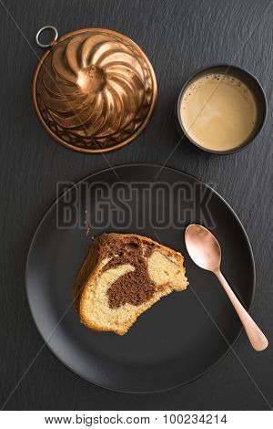 Slice Of Marble Cake