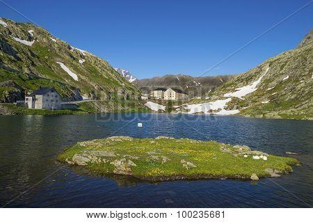 Beautiful  St. Bernard Pass ,Switzerland