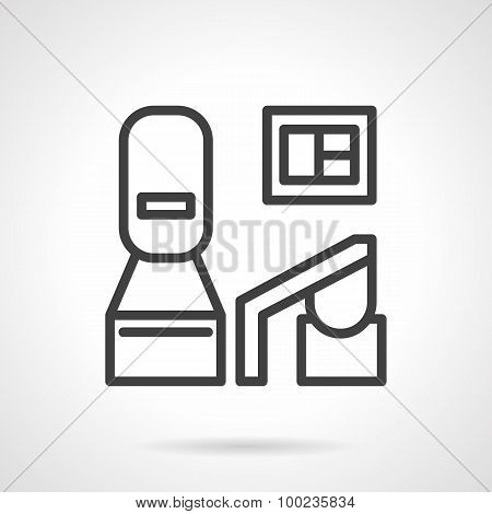Black line medical equipment vector icon