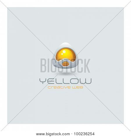 Future abstract Logo media web technology design vector template. Sci-fi creative hitech style triangle logotype icon.