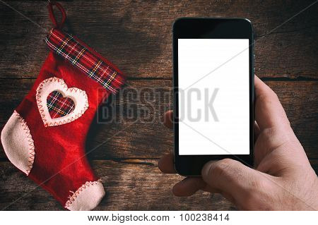 Christmas Sock An Dblank Screen