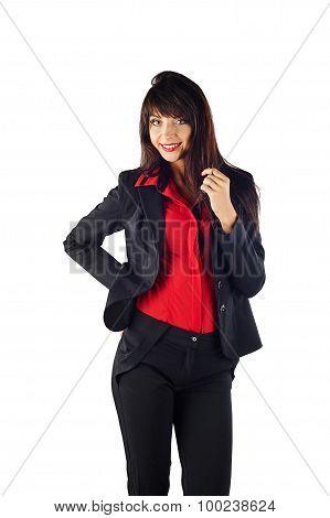 Young Beautiful Business Woman