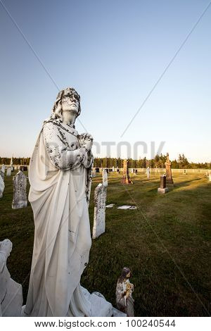 angel in a cemetery